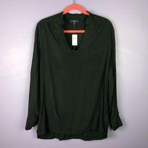 NWT GAP Black Lightweight High Low Tunic Blouse
